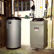 Photo of the upgraded high-efficiency Weil-McLain Ultra Boiler and System