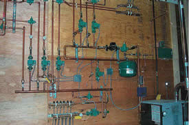 """Radiant Wall"" Boiler Controls, Pumps and Manifolds"